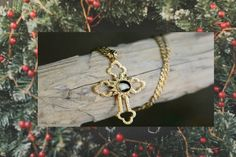 """CLASSIC CROSS Truly a Christmas Gift with Meaning!  Click the link below to order: ➤ USA: https://nativitystonescollection.com/classic-nativity-cross-large.html  ➤Large Cross Pendant  Layered in 22K Gold: 2-1/4""""x1-3/8"""" ➤Petite Cross Pendant  Layered in 22K Gold: 1-3/8""""x7/8""""  Included with your order: 22"""" Rope Chain Velvet Gift Pouch / Gift Box Certificate of Authenticity Explanatory Booklet"""