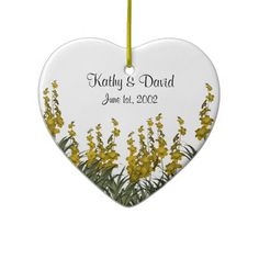 Yellow Flowers Wedding Christmas Ornament http://www.zazzle.com/yellow_flowers_wedding_christmas_ornament-175051287993953816?rf=238631258595245556