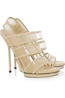 Gucci | Mesh and suede sandals | NET-A-PORTER.COM - StyleSays