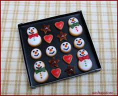 Christmas Cookies On Baking Tray Dollhouse by sashasstore on Etsy