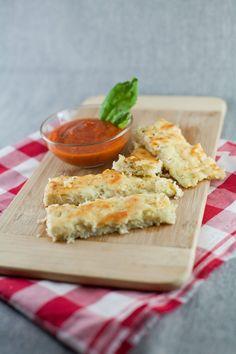 """Cauliflower Garlic Cheese """"Bread"""" Sticks   bsinthekitchen.com #appetizer #cauliflower #bsinthekitchen"""