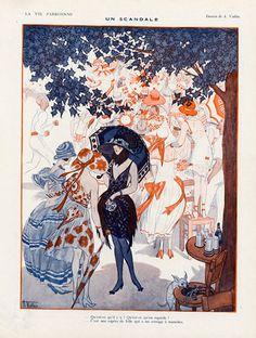 Armand Vallée 1921 Un Scandale, Summer Elegant Parisienne