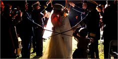 Gabby Giffords... wedding pic in the rain..