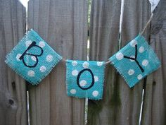 Boy blue Burlap Banner Photo prop  by whatsyoursigndesigns on Etsy, $13.00