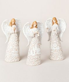 Angel Paper Cutout Figurine Set by Roman, Inc. ($44.99) on zulily