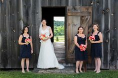 Lace bridal gowns for a rustic chic wedding at the Historic Barns of Nipmoose. Tracey Buyce Photography #rusticchicwedding