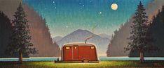Under the Stars - Original Fine Art for Sale - © Robert LaDuke Vintage Posters, Vintage Art, Sculpture Museum, Still Life Drawing, Out Of My Mind, Art Impressions, Retro Art, Fantastic Art, Illustrations And Posters
