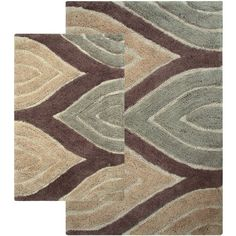 Tan Bathroom Rug Set