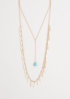 Great Escape Feathered Necklace