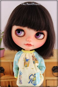 OOAK Custom Blythe. Face up and Customized Blythe by Thehandflower