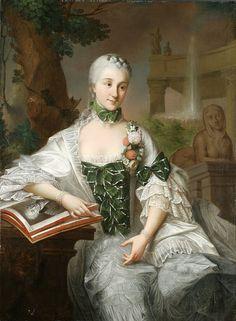 Izabela Poniatowska, sister of king Stanisław Augustus of Poland, by Marcello Bacciarelli, 1757