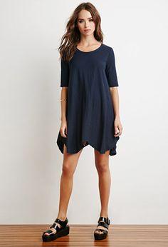Slub Knit T-Shirt Dress | Forever 21 - 2000154659