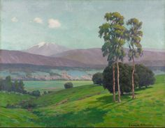 """Early Spring, California,"" Edward B. Butler, 1918, oil on canvas, 36 3/16 x 46 1/16"", Cleveland Museum of Art."
