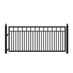 The sturdy and elegant design is engineered to with stand up to all climates while protecting your property. Recommended gate opener (FM350) Medium Duty Single Swing Automatic Driveway Gate Opener.