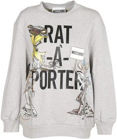 984ec886 Moschino Rat-a-porter Sweatshirt Rats, Men And Women, Moschino, Luxury