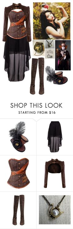 """Madeline, Descendant Of The Mad Hatter"" by she-demon ❤ liked on Polyvore featuring beauty and Via Spiga"