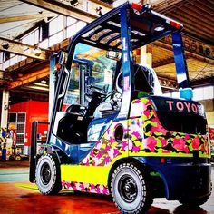 Anything looks good on a Toyota #forklift