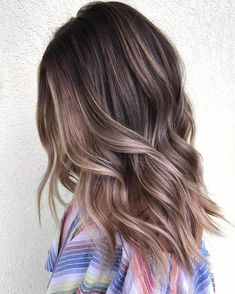 Soft Cool-Toned Ash Brown Balayage
