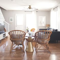 [ways to work an open floor plan] A Collaborative, Creative Home in the Midwest | Design*Sponge