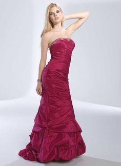 Gorgeous sleeveless trumpet / mermaid floor-length home coming dress