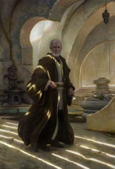 """Obi-Wan Kenobi""  33"" x 48"" oil on paper on panel  © 2008 Donato Giancola"
