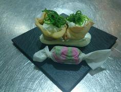 Φωλιά τόνου ταρταρ με κρέμα wasabi & φύκια Wakame
