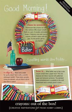 HobbyLobby Projects - Crayons: out of the box! Great gift idea for Chase's teacher.