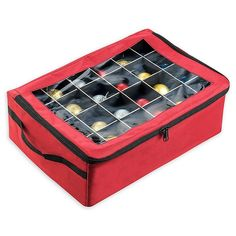 Tiny Tim Totes Premium 48 Christmas Ornament Organizer Storage Box Red >>> To view further for this item, visit the image link-affiliate link. Gift Wrap Storage, Tote Storage, Storage Containers, Storage Boxes, Ornament Storage, Christmas Storage, Storage Organization, Cleaning Wipes, Decorative Pillows