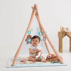 Skip Hop Camping Tent TeePee Cubs Activity Mat for babies #sillylittlegirl
