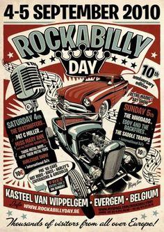 Rockabilly Day Vintage Poster