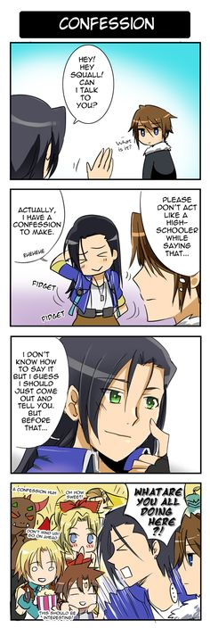 Dissidia FF- Confession by meru-chan on DeviantArt