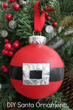 Santa Suit Flatter Christmas Ornament Directions via BargainBriana.com