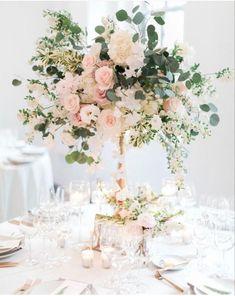 Tall Wedding Centerpieces, Wedding Table Decorations, Wedding Table Centerpieces, Wedding Flower Arrangements, Floral Centerpieces, Centerpiece Ideas, Blush Centerpiece, Floral Arrangements, Wedding Table Centres