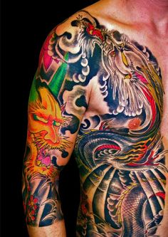 tatuaggio dragone, hannya, 2006