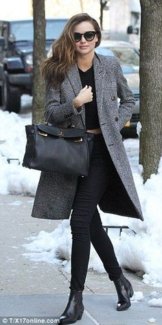 Miranda Kerr's street style is always amazing {The coat!!} Autumn winter
