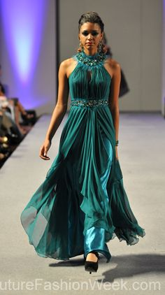 Carlos Vigil Couture Fashion Week New York 2013 COLOR and COLLAR: Cut in sleeves are a trend