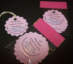 Large Scalloped Product Tags #zibbet