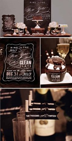Clean Slate New Years party theme idea.
