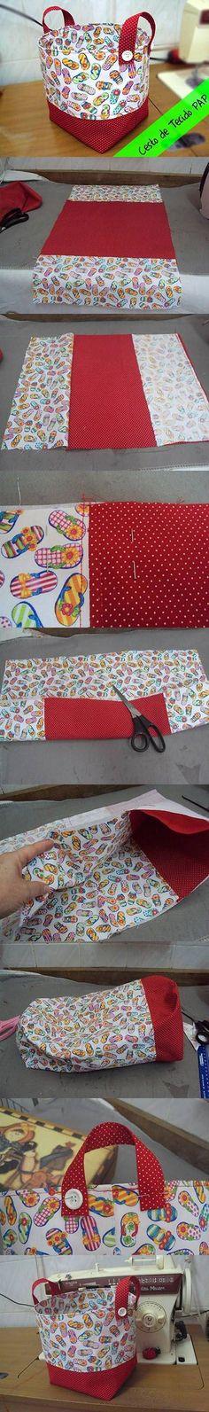 DIY Easy Fabric Basket   DIY & Crafts Tutorials
