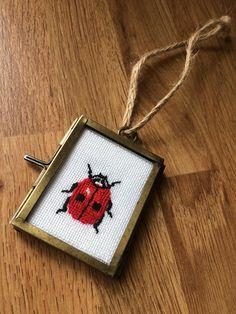 Ladybird cross stitch #handmade
