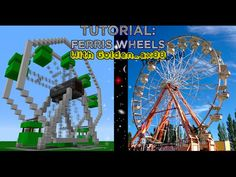 Minecraft Tutorial: How to build a Working Ferris Wheel - YouTube