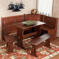 Corner Kitchen Table With Benches