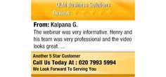 The webinar was very informative. Henry and his team was very professional and the video...