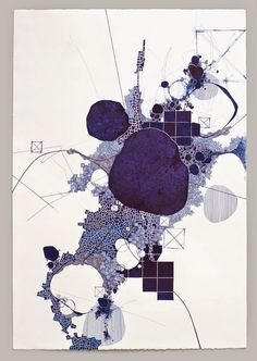 Derek Lerner Asvirus 36 - 2013 ink on paper 44 x 30 in Abstract Drawings, Abstract Art, Abstract Images, Art Carte, Architecture Drawings, 2d Art, Saatchi Art, Illustration Art, Sketches