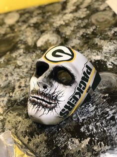 Excited to share this item from my shop: GreenBay Packers Hard Adult Skull Mask! Green Bay Packers Wallpaper, Green Bay Packers Logo, Nfl Green Bay, Packers Football, Football And Basketball, Greenbay Packers, Football Face Paint, Packers Funny, Painted Fan
