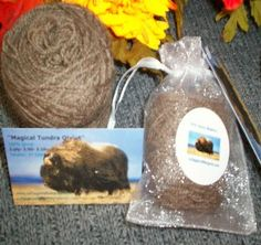 Quiviut wool. This site has it for only $40/ball! I used to have hat made of this. It's extremely expensive, but so beautiful and softer even than cashmere. It's from Muskox