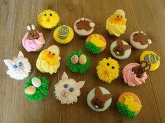 Easter Cupcakes mini my-cupcakes Easter Cupcakes, Mini Cupcakes, Easter Cake, Cakepops, Cupcake Toppers, Macarons, Valentines, Cookies, Baking