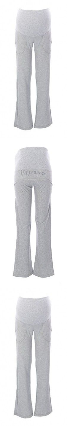 9FASHION Maternity Women's Fitmama IV Trousers, Small, Gray Melange