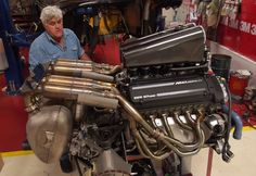 Jay Leno and a McLaren BMW M Power engine
