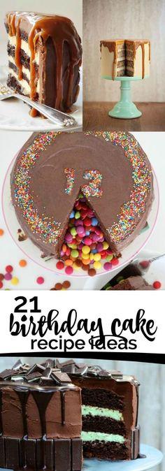 21 Birthday Cake Recipe Ideas!